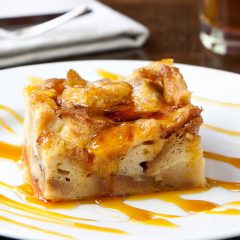 challah beer bread pudding