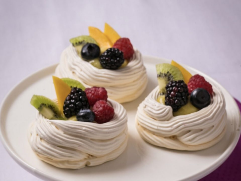 Meringue Fruit Tarts